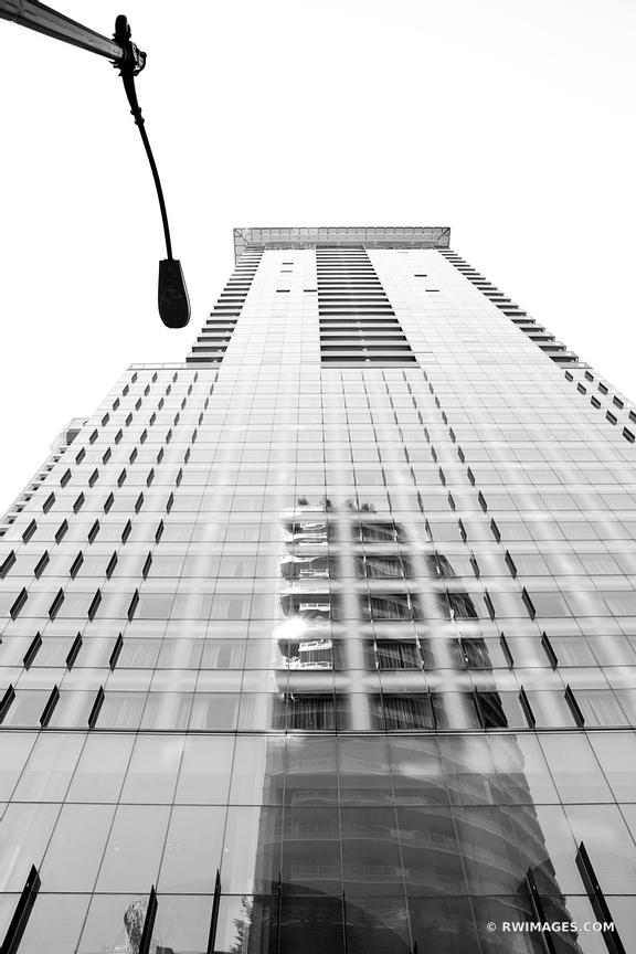 DOWNTOWN SEATTLE WASHINGTON ARCHITECTURE BLACK AND WHITE