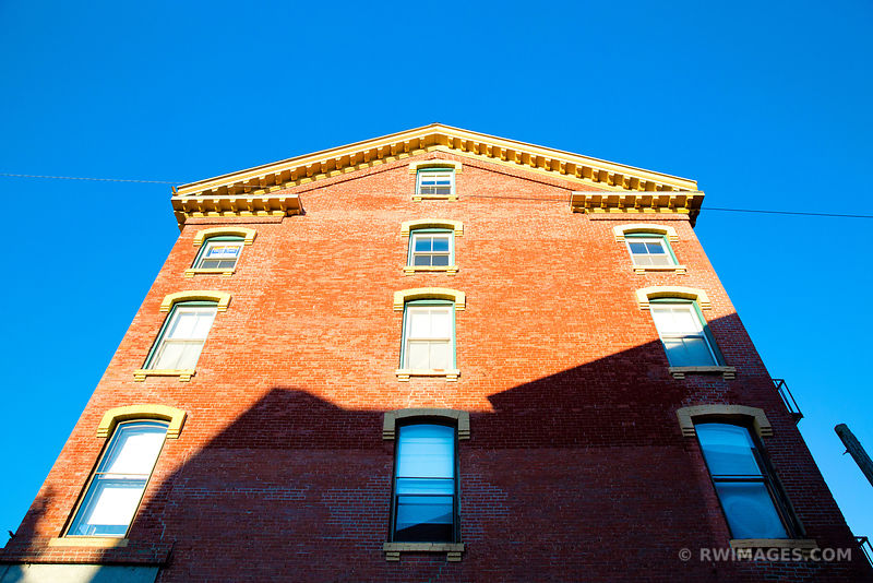 OLD BUILDING FACADE DOWNTOWN PORTLAND MAINE