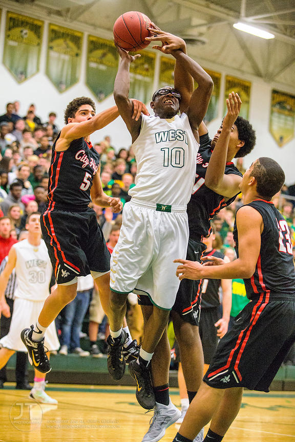 P-C - Boy's Basketball, Iowa City High vs Iowa City West, February 13, 2015