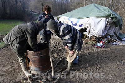 © Sebastien LAPEYRERE / Olynea photos; Lisle sur Tarn France March 4, 2015 ZAD area to defend the Sivens dam project . The Za...