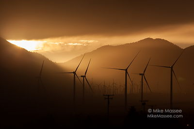Windfarm Sunset, Tehachapi