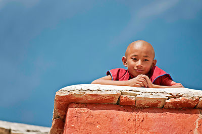 An everyday scene at a Ladakhi monastery.