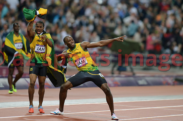 Usain Bolt and Yohan Blake (JAM)