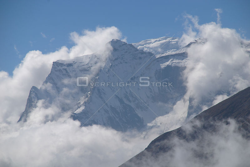 NEPAL Mount Nupla -- The eastern peak of Mount Nupla (summit not visible in this image) - a 5885 peak in the Everest region (...