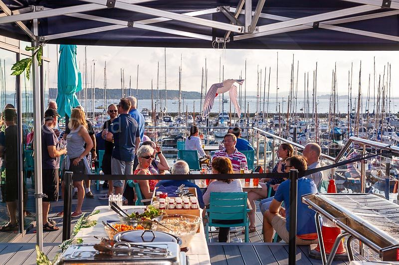 Apres sail at Parkstone Yacht Club during Zhik Poole Week 2018