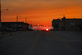 Sunset in Chillocothe, Texas (Highway 287)