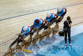 Team Pursuit First Round. Track Cycling World Cup Milton, October 26, 2018