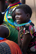 Karamojong girl in the village, northern Uganda