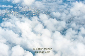 Aerial View of San Francisco and Clouds