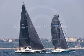 Esprit, Elan 410 and Tympanic, Dragonfly 28, Poole Regatta 2018, 20180526114