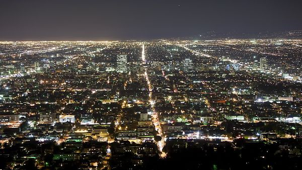 Bird's Eye: Glittering Strands Of Tinsel Town, L.A.