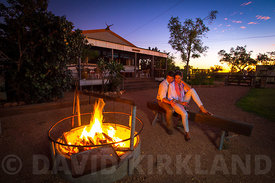 Camp Fire at the Outback Station  Western Australia