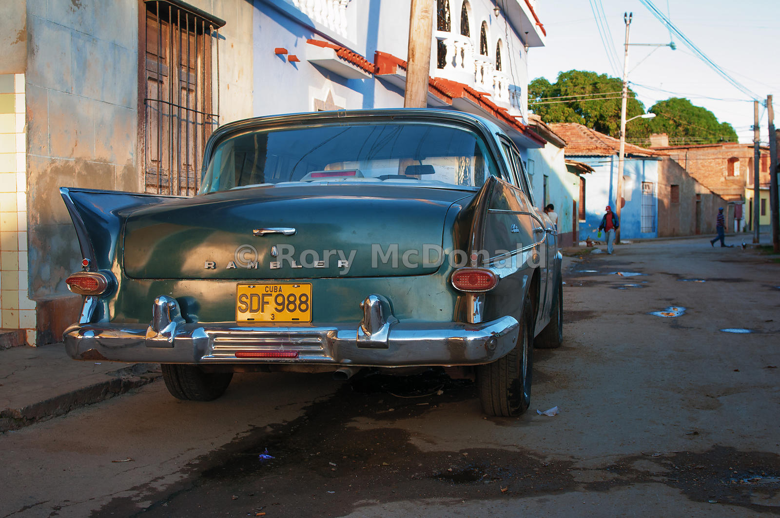 Cuban Side Street with car