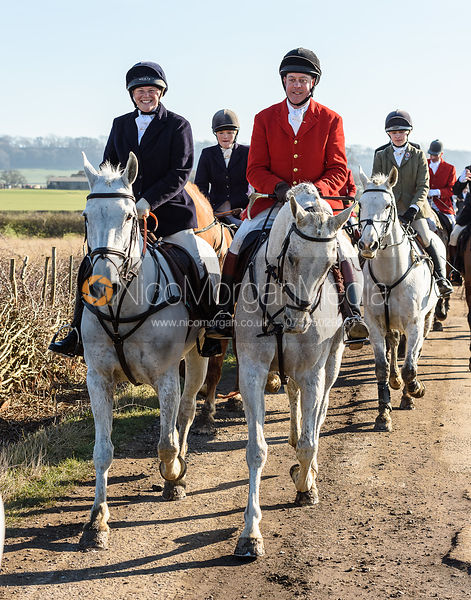 The Belvoir Hunt at Mount Pleasant 14/2