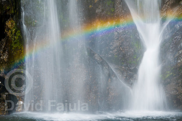 Rainbow at the bottom of Pish waterfall (Salt des Pish)