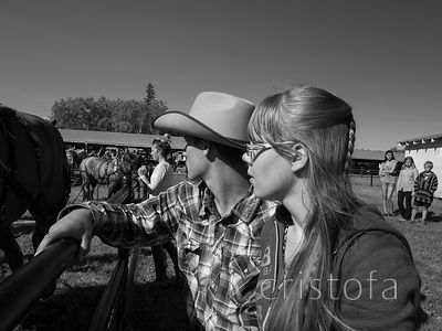young spectators at Fort St John Fall Fair