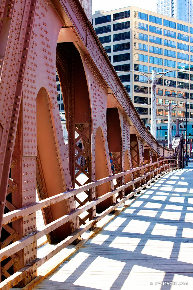 LA SALLE BRIDGE CHICAGO DRAWBRIDGE  CHICAGO ILLINOIS COLOR VERTICAL