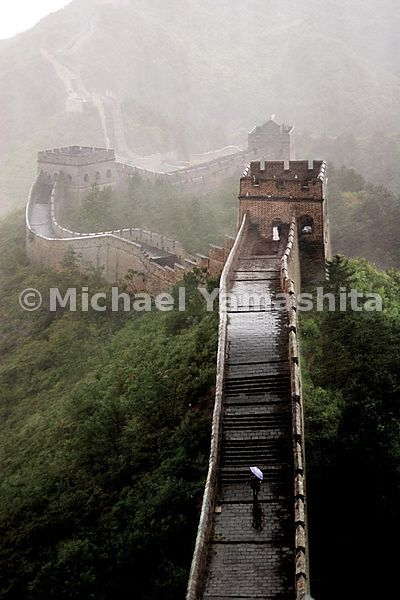 The section of the Great Wall in Jinshanling, built by Ming Emperor Zhu Di is the largest single construction project in the ...