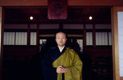 Japan - Hikone - A Zen monk of the Soto School