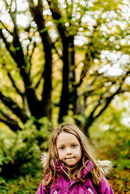 Younger Nordic girl in the forest