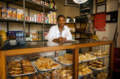 Mozambique, Beira, Pastelaria or pastery shops are common in Beira.