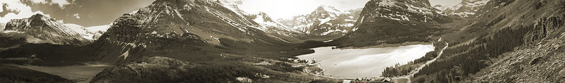 Panoramic_W091009_Many_Glacier_Lakes_Preview