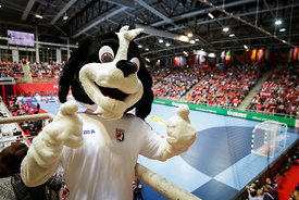 Mascot during the EHF EURO Croatia 2018 - Preliminary round -  Group B - Belarus vs Austria in Zatika Sports Centre, Porec, Croatia, 12.1.2018, Mandatory Credit © HRS / Anze Malovrh