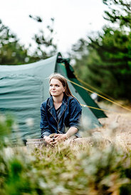Girl camping in Denmark 7