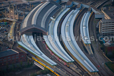Aerial view of Bristol Temple Meads Station, Bristol