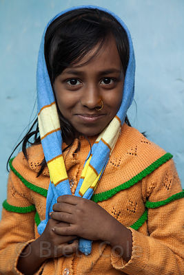 Portrait of a girl in the Fakir Bagan neigborhood of Howrah, India, in an area served by the NGO Calcutta Kids (calcuttakids....