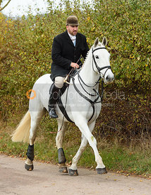 Russell Cripps on Newbold Road. The Cottesmore Hunt at Somerby