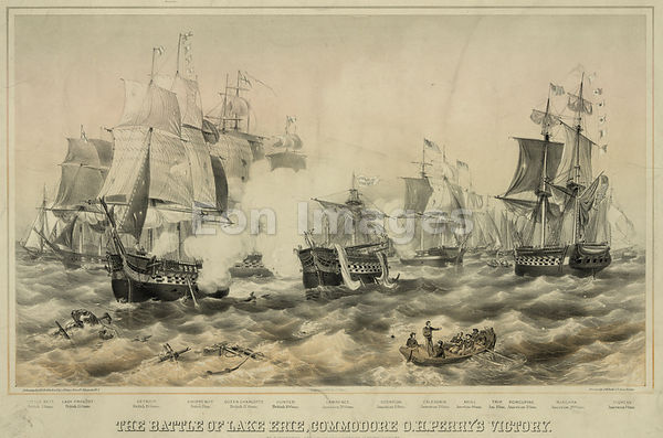 Perry victory on Lake Erie during War of 1812