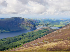 Views of Ennerdale Water and Crag Fell in the English Lake District, UK.