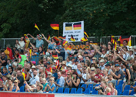German supporters acknowledge Michael Jung (GER) & fischerRocana FST