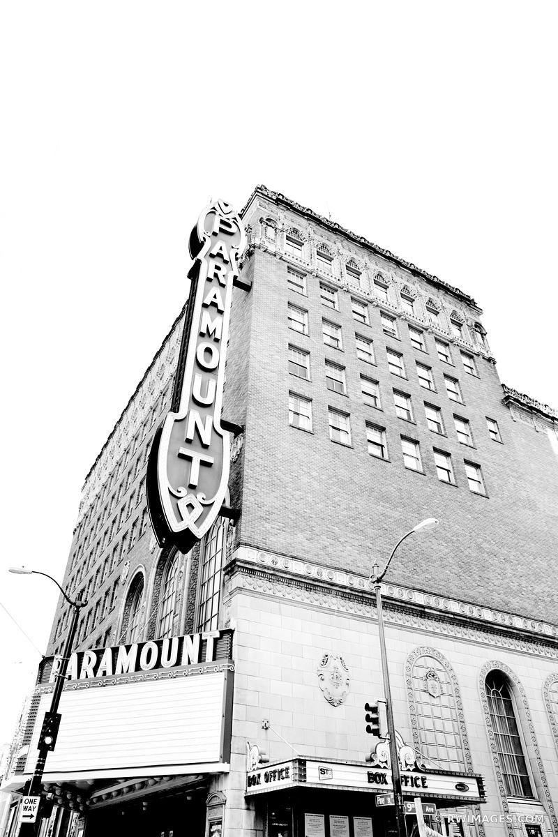 PARAMOUNT BUILDING HISTORIC SEATTLE BLACK AND WHITE