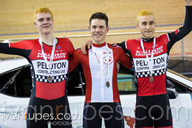 Junior Men Elimination Race Podium. Canadian Track Championships (U17/Junior/Para), April 1, 2017