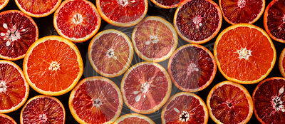 Fresh red Orange Citrus fruit pattern banner background