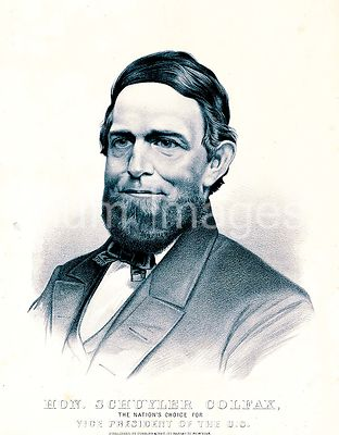 Hon. Schuyler Colfax the nation's choice for vice president of the U.S. ca 1869