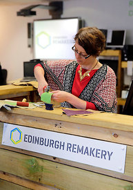 Edinburgh Remakery, Leith Walk, Edinburgh..19.5.16.The opening of the new 're-use superstore' in Edinburgh...More info from C...