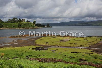 Aros Castle with the Sound of Mull, Salen, Isle of Mull, Argyll & Bute, Scotland