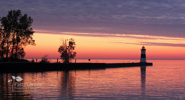 Sunrise View of the North Pier Lighthouse