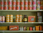 Shelf Full of Old Cans