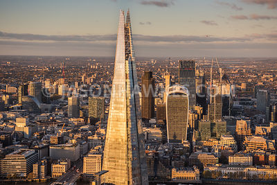 The Shard, aerial view, London