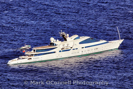 Arial shot of Superyacht Yas