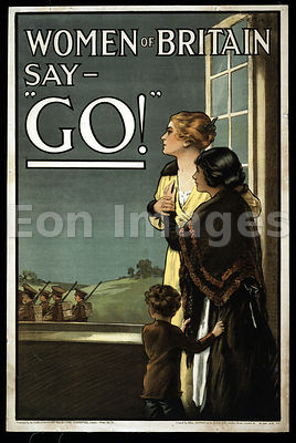 WWI poster-Women of Britain say Go!