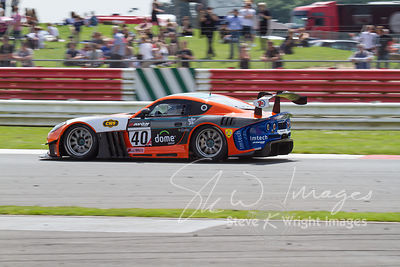CWS 4x4 Spares Ginetta G55 GT4 in action at the Silverstone 500 - the third round of the British GT Championship 2014 - 1st J...