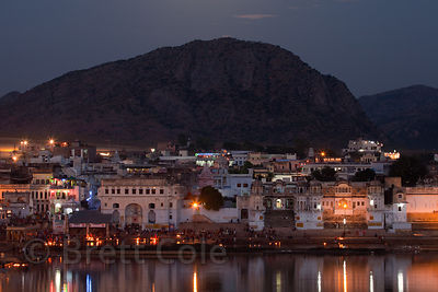 Night in Pushkar, Rajasthan, India