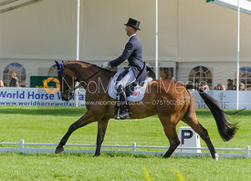 Clark Montgomery and LOUGHAN GLEN - Dressage phase, Mitsubishi Motors Badminton Horse Trials 2014
