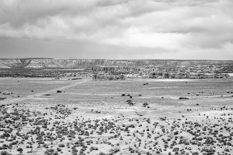 NEW MEXICO LANDSCAPE NEAR ALBUQUERQUE NEW MEXICO BLACK AND WHITE