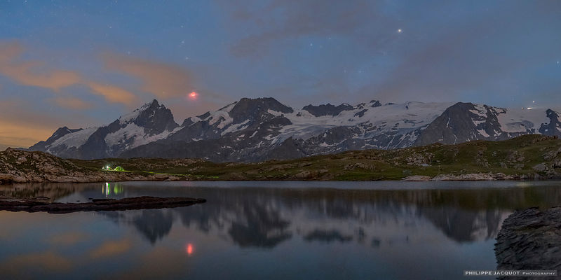2018 - Total lunar eclipse - France - Ecrins range